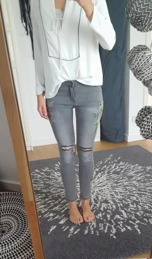 Tolle florale 7/8 Jeans in 38