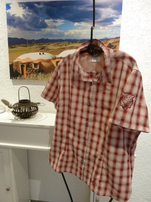 Jack Wolfskin Checked Blouse brick red-natural white