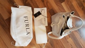 Tolle Furla Stacy Bucket Bag in weiß NEUWERTIG
