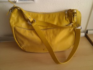 Esprit Shoulder Bag dark yellow imitation leather