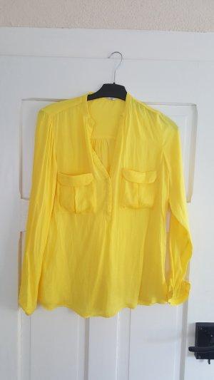Tolle gelbe Seidenbluse von Zara