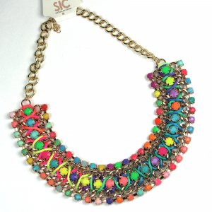 Collier Necklace multicolored synthetic material