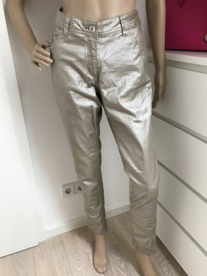 Tolle Glanzhose * silber/gold * 38/40