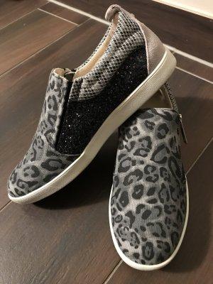 Tolle Glitzer Glitter LIU JO sneaker slip on Slipper Luxus Leo Leopard