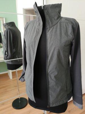 Gore Cortaviento gris oscuro-color plata tejido mezclado