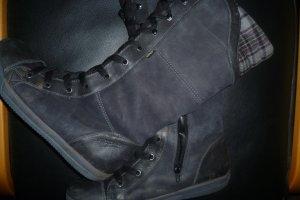 Botas con cordones gris antracita