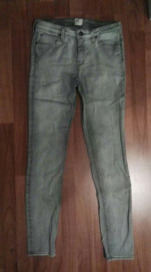 tolle graue skinny jeans lee gr. 30/33 gr.40