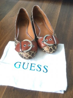 Guess Ballerines Mary Jane marron clair