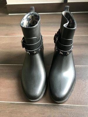 Guess Botines negro-color plata