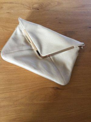 Hallhuber Pochette blanc cassé-doré