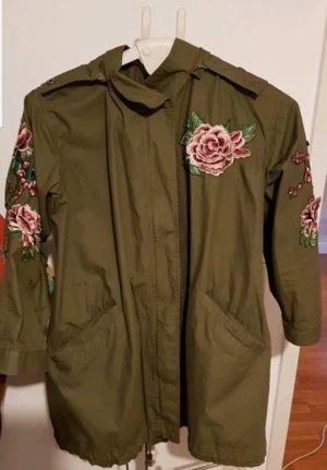 Hallhuber Oversized Jacket magenta-khaki