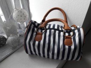 Tolle Handtasche blau/ weiss gestreift ♡MARITIM♡