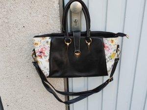 tolle Handtasche in kunstleder mit floralen Muster