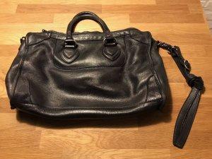 Tolle Handtasche, Tasche, Echt-Leder, schwarz, aus Italien