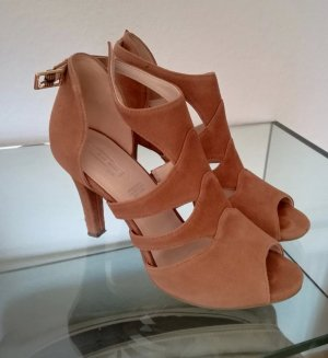 5th Avenue High Heels brown-cognac-coloured