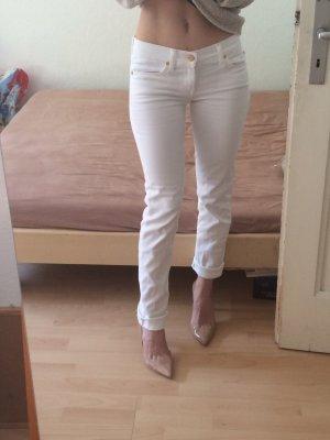 7 For All Mankind Jeans met rechte pijpen wit