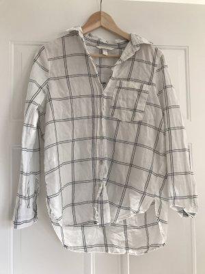 H&M Camisa de leñador blanco-negro