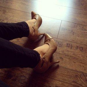tolle high heels beige/hellbraun