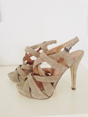 Tolle High Heels in hellem Wildleder