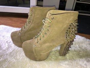 Jeffrey Campbell Platform Boots light brown leather