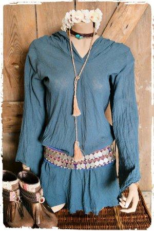 Tolle Hippie Boho Tunika Kleid Kapuze aus Ibiza