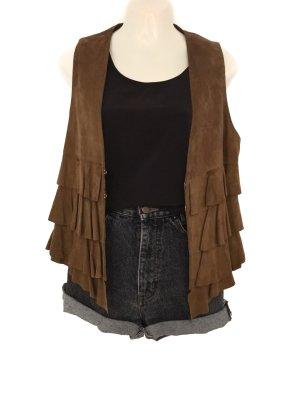 Phard Leather Vest light brown-brown