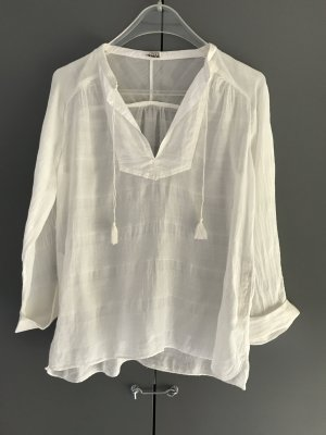 Closed Transparante blouse wolwit