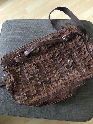 Tolle hochwertige Leder Handtasche in braun von L.Credi