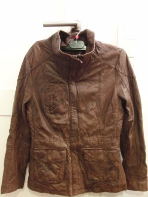 Tolle hochwertige Lederjacke von COCKTAIL, Gr. 36, dunkelbraun