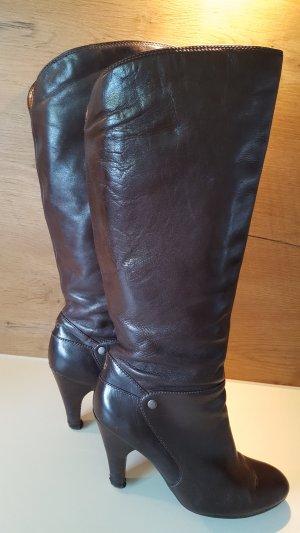 Tolle hohe Stiefel mit hohem Schaft, EDC, dunkelbraun,  Gr. 40
