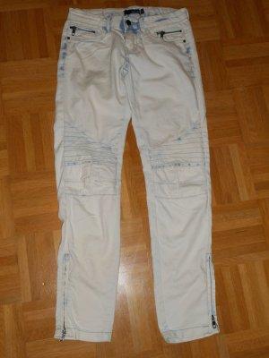 Tally Weijl Pantalón de cinco bolsillos gris claro-blanco Algodón