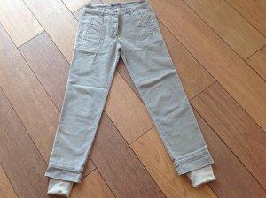Nice Connection Pantalón color plata-crema Algodón