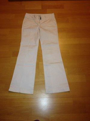 tolle Hose,weiß mit schwarzen Nadelstreifen,mit Bundfalte,Größe 38