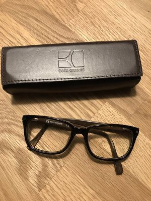 Tolle Hugo Boss Brille mit Stärkegläsern, dunkelbraun & Holzoptik
