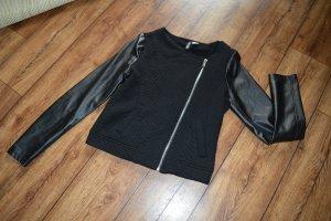 Tolle Jacke Gr. 36 von H&M Leder und Stoff echt cool