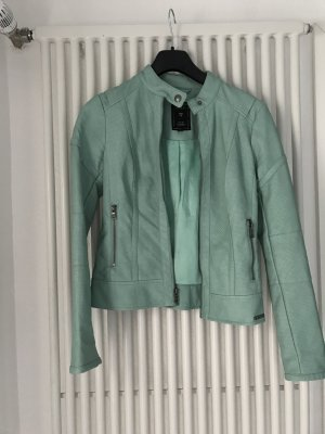 Guess Faux Leather Jacket turquoise-light blue