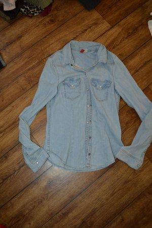Tolle Jeans Bluse Gr. 34 von H&M