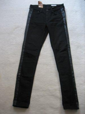 tolle jeans H&M neu schwarz skinnyjeans gr. s 36 slim regular fit