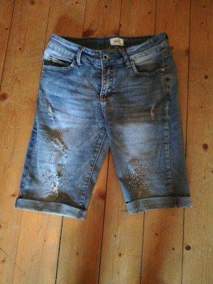 tolle Jeans Shorts S Glitzer Steinen
