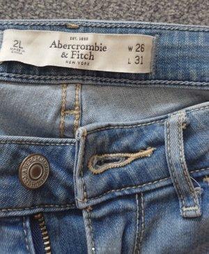 Abercrombie & Fitch Pantalon cigarette bleu azur
