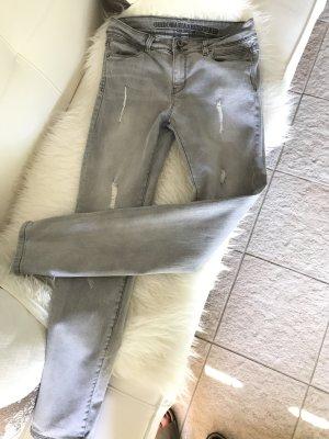 Guido Maria Kretschmer Jeans a gamba dritta grigio chiaro-argento Cotone