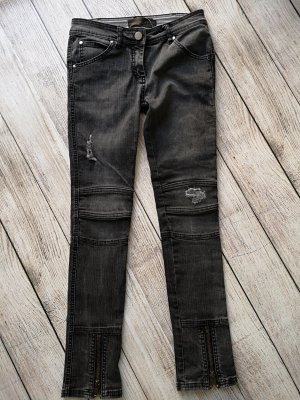 Liebeskind Berlin Low Rise Jeans dark grey cotton