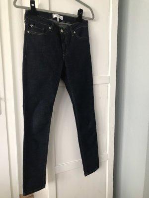 Mango Tube Jeans dark blue