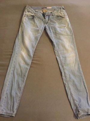 PLEASE Denim Skinny Jeans light blue cotton