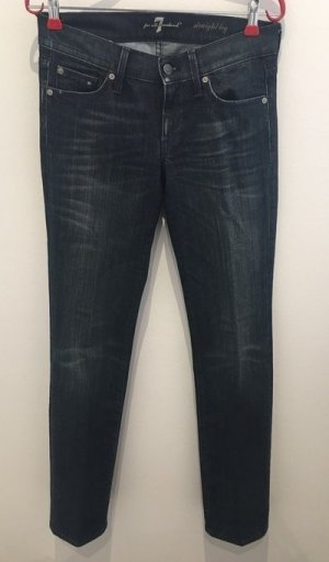 7 For All Mankind Vaquero estilo zanahoria azul oscuro