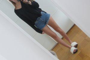 Forever 21 Denim Shorts azure cotton