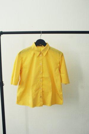 Jil Sander Blusa de manga corta amarillo Algodón