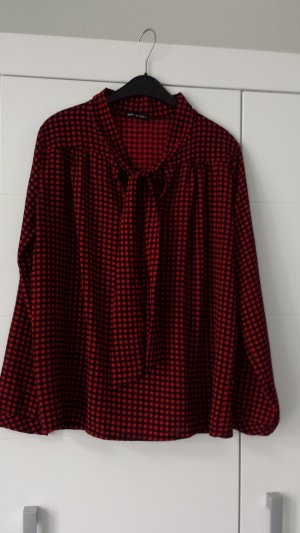 Made in Italy Checked Blouse brick red-black polyester