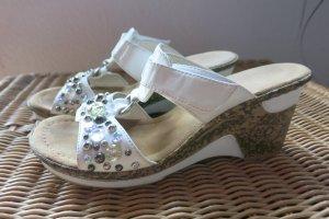 Rieker Heel Pantolettes white