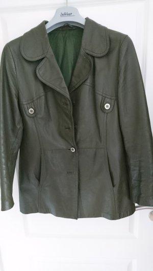 tolle khaki  bzw. grüne Lederjacke - Gr. 42